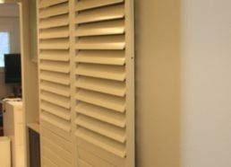 closing off a room with sliding shutters